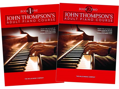 Bộ JOHN THOMPSON'S adult piano course book 1&2