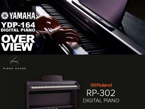 So Sánh Đàn Piano Điện Roland RP-302 và Yamaha YDP-164