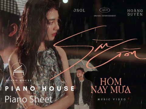 Sài Gòn Hôm Nay Mưa - Sheet Piano Full - Có hướng dẫn