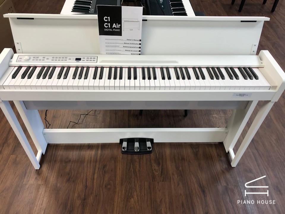 Đàn Piano Điện KORG C1 Air WH - Màu Trắng - Bluetooth - Made in Japan |  Piano House Vn