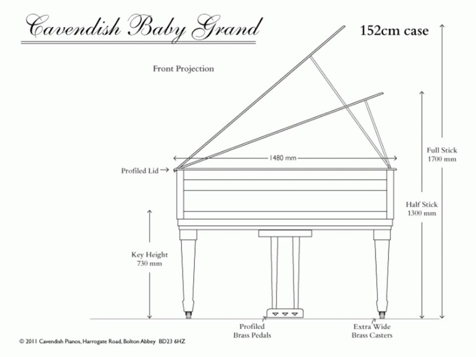 Kích thước đàn Piano cơ Grand và Upright | Piano House Vn