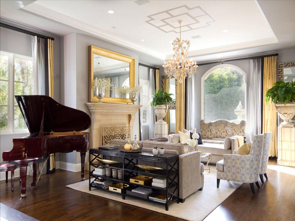 decor piano không gian  cổ điển châu âu
