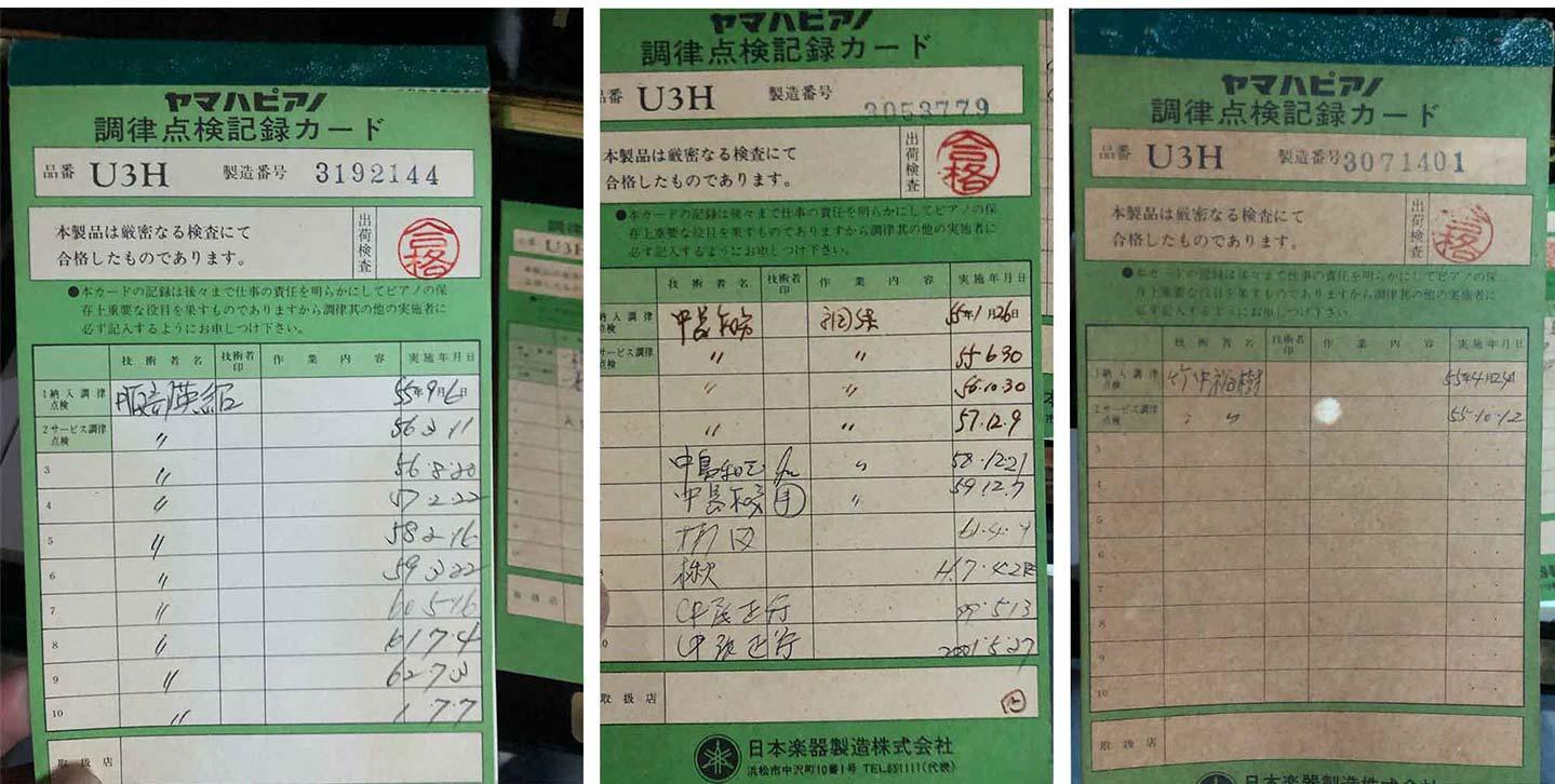giấy chứng nhận đàn piano yamaha u3h